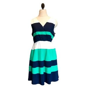 🛍Ya Los Angeles colorblock Dress Size Large Flare
